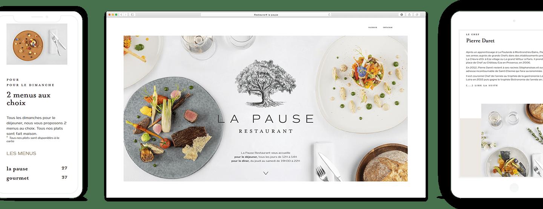 restaurant la pause site web 1