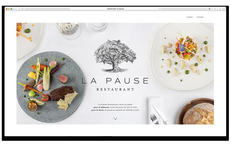 restaurant la pause site web 3