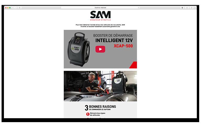 SAM site web 3