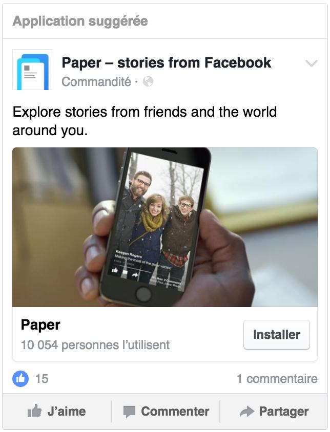 installation-app objectif facebook ads