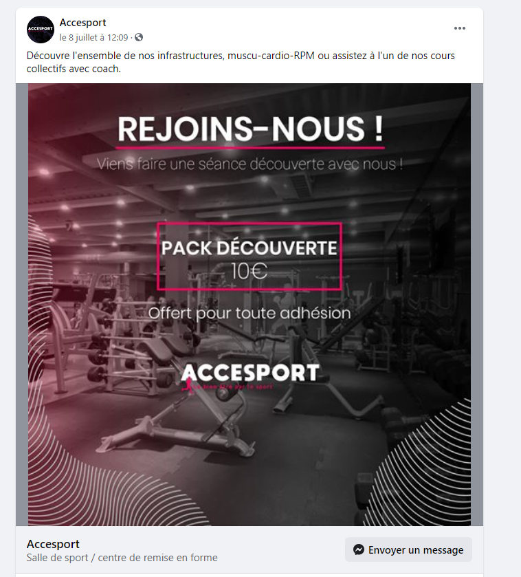 objectif message - accessport