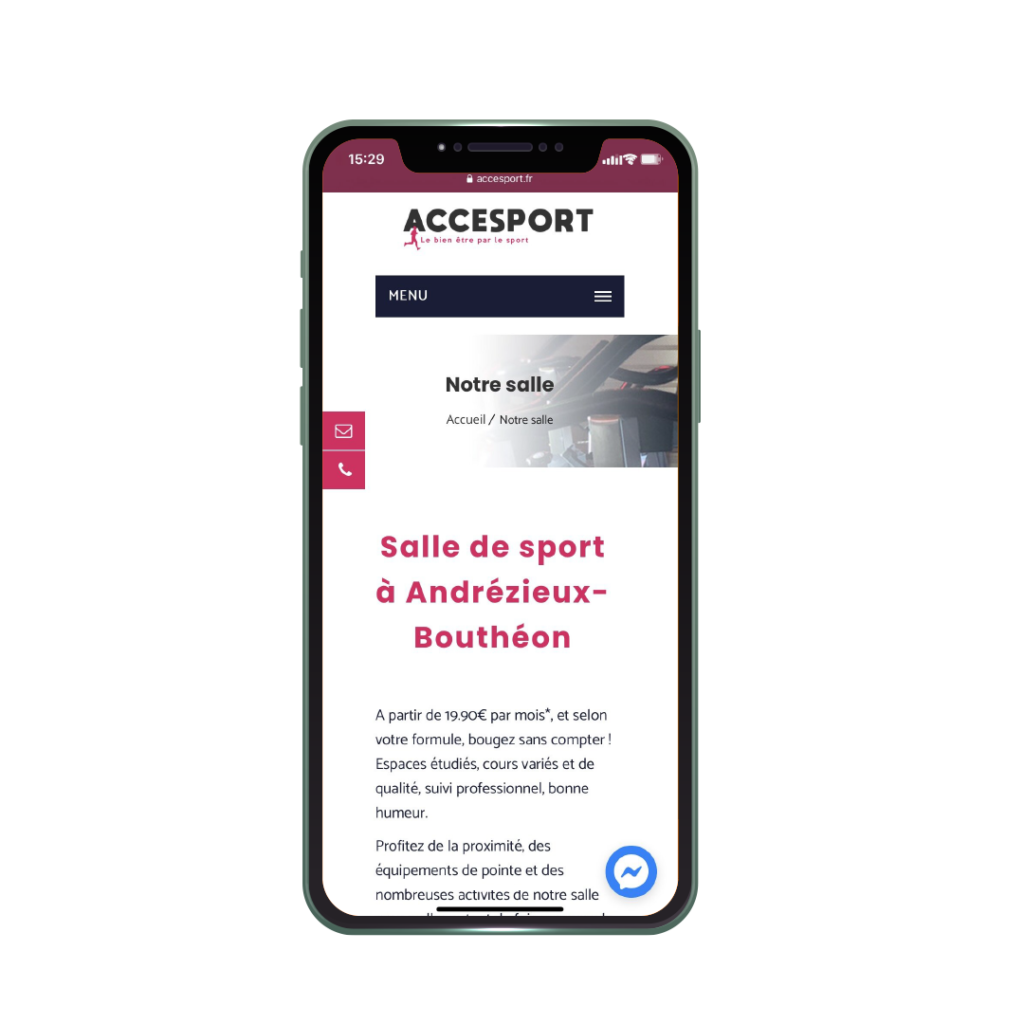 Accesport site internet responsive