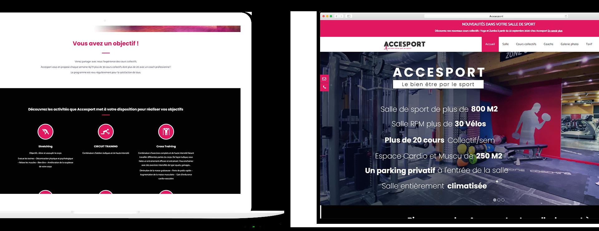 Site internet Accesport par Jlcw