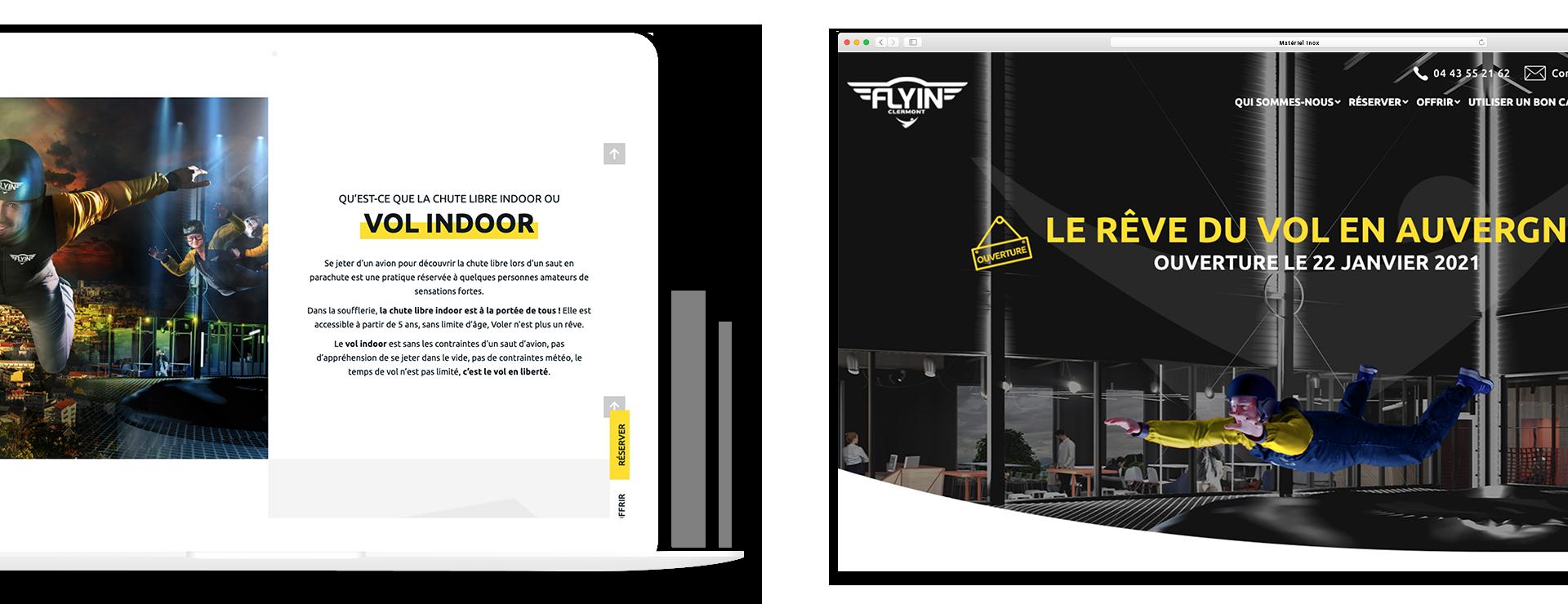 Création du site internet de FlyInClermont