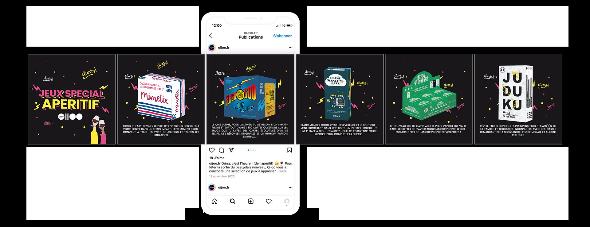 Carrousel Instagram Qijoo