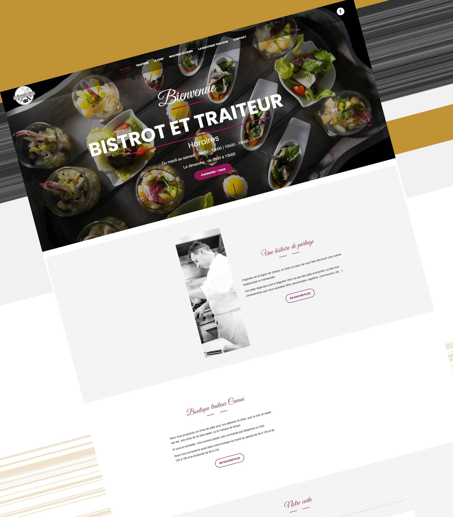 Site internet wordpress Bistrot et Traiteur - JLCW