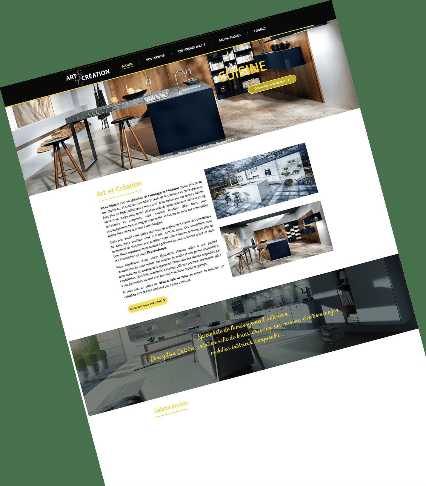 art et création - site internet