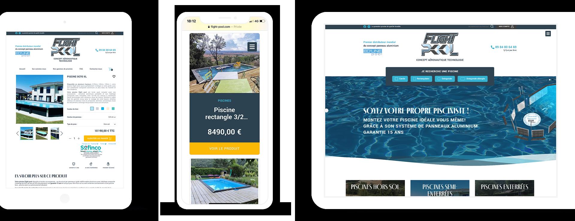 Site e-commerce Flight Pool