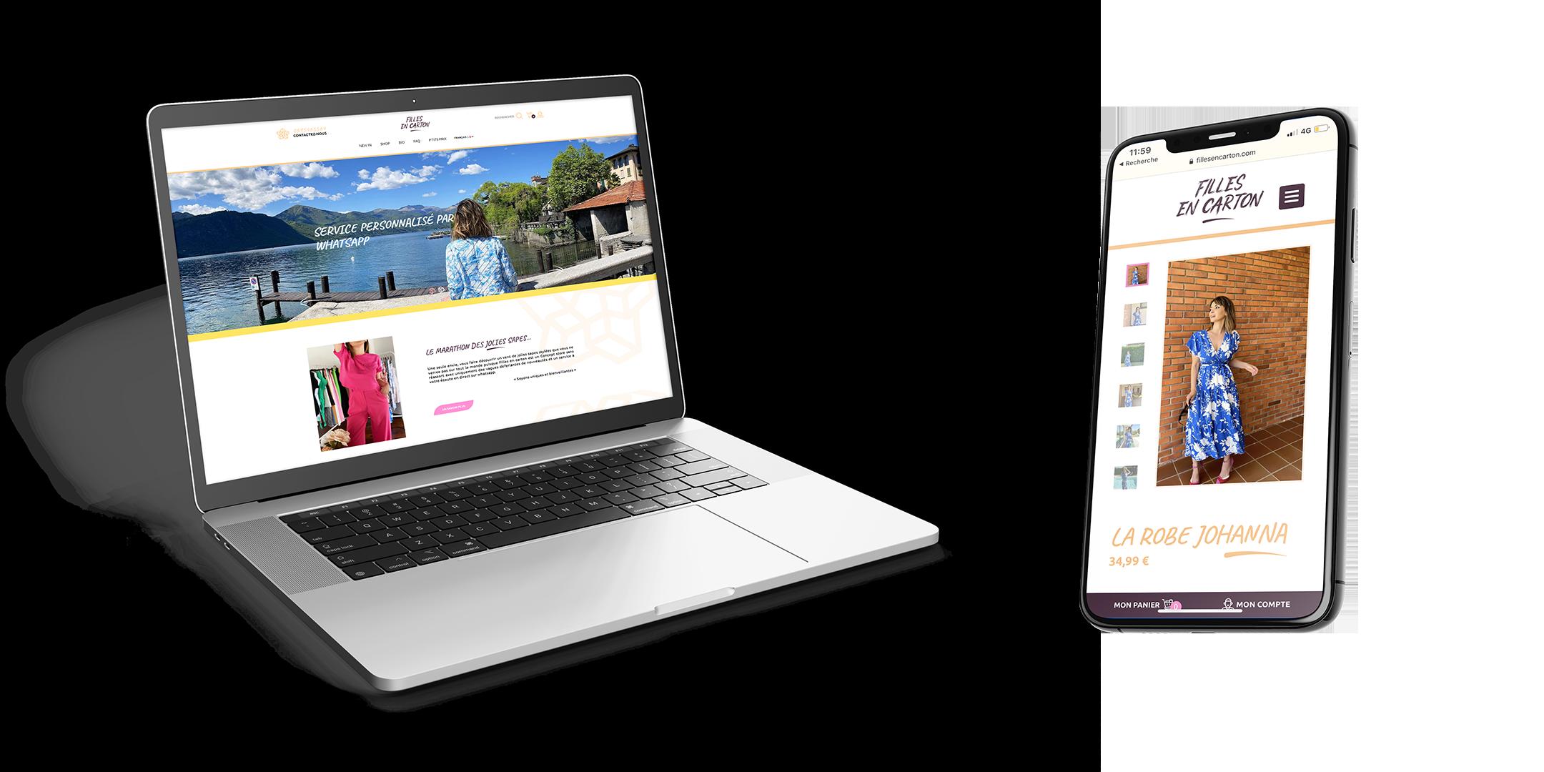 Création du site ecommerce Filles en Carton